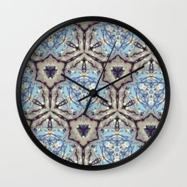 Crystallize (Blue) Wall Clock