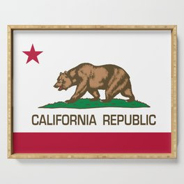 California flag, High Quality Authentic Serving Tray