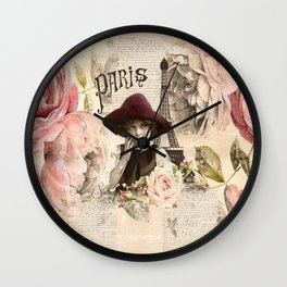 Paris girl Wall Clock