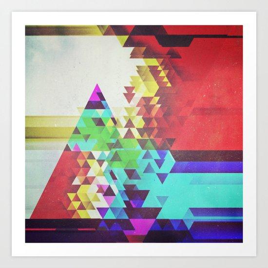 Triangle Lover Art Print