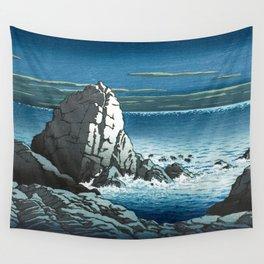 Kawase Hasui, Muroto Peninsula, Tosa - Vintage Japanese Ukiyo-e Woodblock Print Art Wall Tapestry