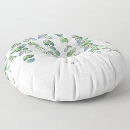 Eucalyptus Garland 2  Floor Pillow