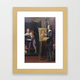 Sir John Everett Millais, Bt 1829–1896   Charles I and his Son in the Studio of Van Dyck Framed Art Print