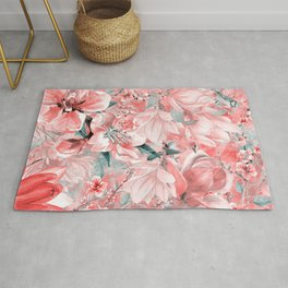 flowers and birds pattern #flowers #pattern Rug