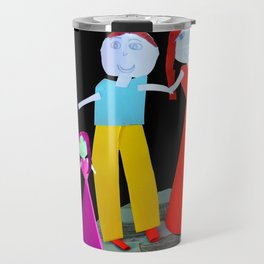 Dance me to the end of love | Kids Painting by Elisavet Travel Mug