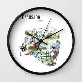 Bergsjön, Göteborg, Sweden. Wall Clock