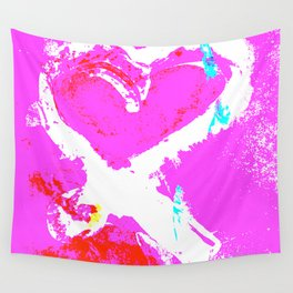 Pink Graffiti Ribbon for Breast Cancer Research by Jeffrey G. Rosenberg Wall Tapestry