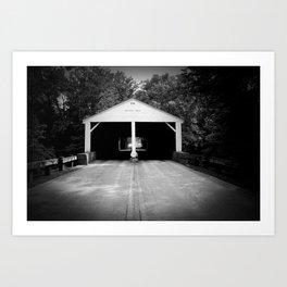 B&W Bridge Art Print