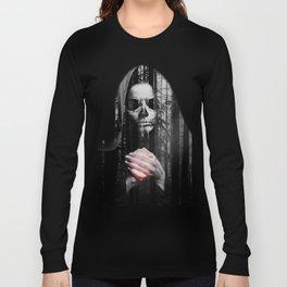 Death Waits Long Sleeve T-shirt