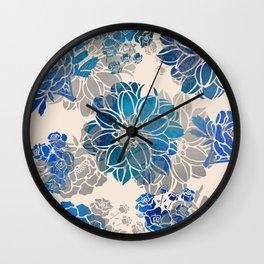 Flower Pattern Design #2 Wall Clock
