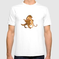 dancing MEDIUM Mens Fitted Tee White
