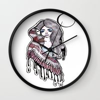 selena Wall Clocks featuring Selena by meowkitty17