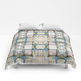 Multi Tiled Pastel Pattern Abstract Comforters