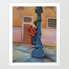 Singing in the rain, the early years Art Print