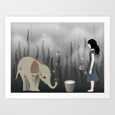 elephant in lo♥e Art Print