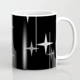 Mid Century Modern Stars (Black) Coffee Mug