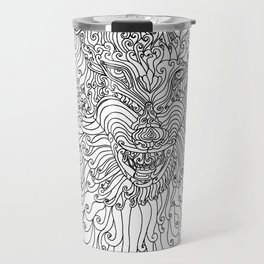 The Way of Wolf Travel Mug