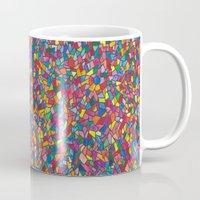 mosaic Mugs featuring Mosaic by Juliana Kroscen