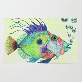 Funky Fish Art - By Sharon Cummings Rug