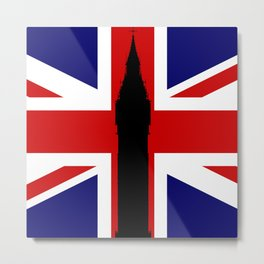 Union Flag Big Ben Metal Print