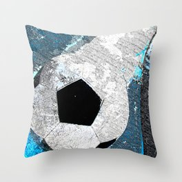 Soccer art vs 1 cx Throw Pillow