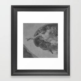 Black White Sistine Chapel Framed Art Print