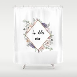 Lettering and Watercolor #4 Shower Curtain