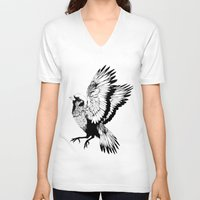 sparrow V-neck T-shirts featuring Sparrow by akreon