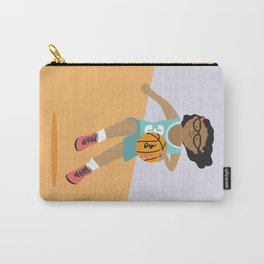 Positively Girly - Basketball girl - black skin Carry-All Pouch