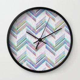 Lilli Chevron {light} Wall Clock