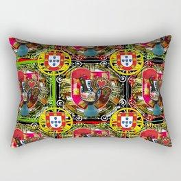 Galo de Barcelos, Portuguese Art Rectangular Pillow