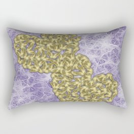 Butterfly swarms in heart shape on purple web texture Rectangular Pillow