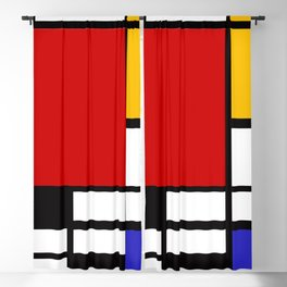 Piet Mondrian - Composition with Red, Yellow, and Blue 1942 Artwork Blackout Curtain