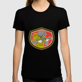 Navy Seal With Armalite Rifle Shield T-shirt