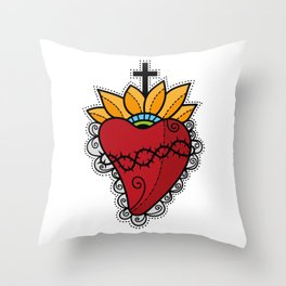 Sacred Heart Throw Pillow