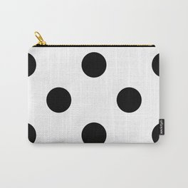 Giant Black and White Polka Dots | Carry-All Pouch