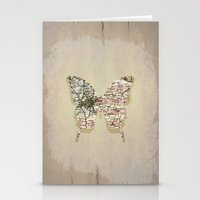 dallas Stationery Cards featuring dallas butterfly by Steffi Louis