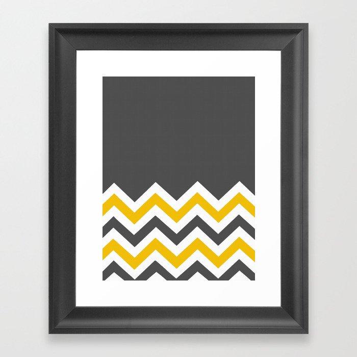 Color Blocked Chevron 14 Framed Art Print