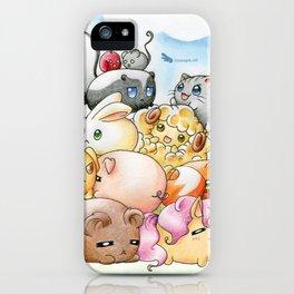 Chibi-Creatures iPhone Case