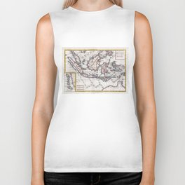 Vintage Map of Indonesia (1780) Biker Tank