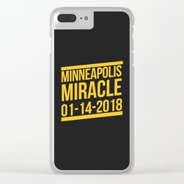 Minneapolis Miracle Clear iPhone Case