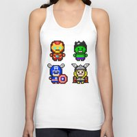 superhero Tank Tops featuring Superhero Gathering by Daizy Jain
