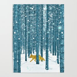 A Golden Fox In The Wild Poster