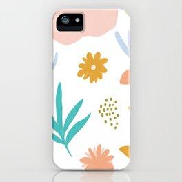 Retro Flower Art iPhone Case