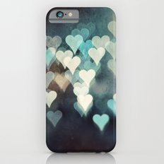 Heart Photography, Abstract Teal Turquoise Hearts Slim Case iPhone 6s