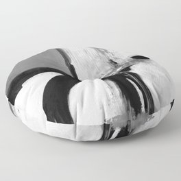 Black white abstract Floor Pillow