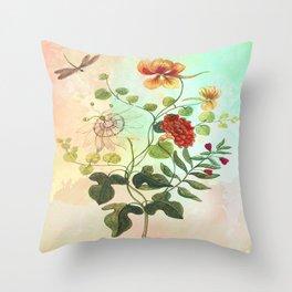 Simply Divine, Vintage Botanical Illustration Throw Pillow