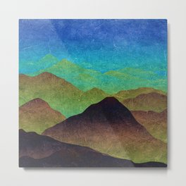 Through hilly lands and hollow lands Metal Print