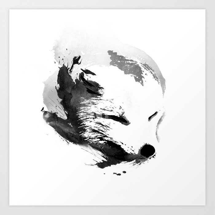 Discover the motif WHITE FOX by Robert Farkas as a print at TOPPOSTER