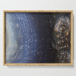 Stargazing into the Night Sky Serving Tray